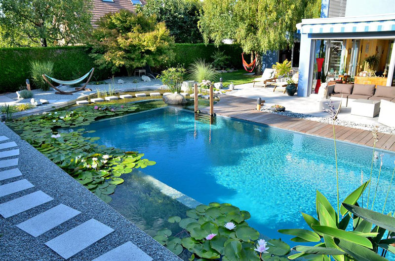 Your own private paradise natural swimming pools by - How to build a swimming pool yourself ...