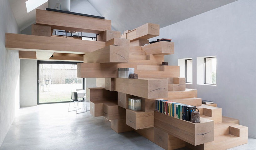 Stacked Timber Addition Transforms a Historic Stable