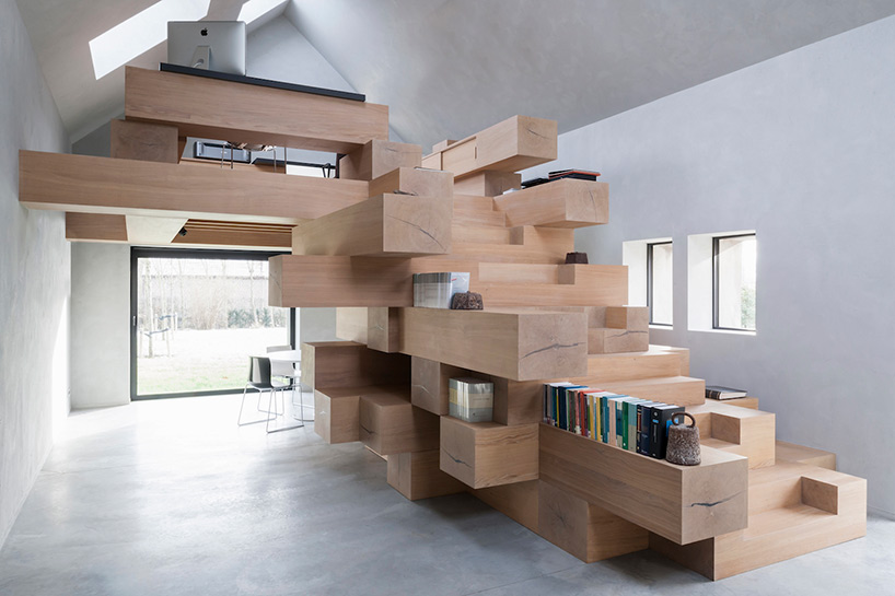 stacked timber loft 1