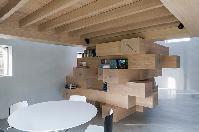 stacked timber loft 4
