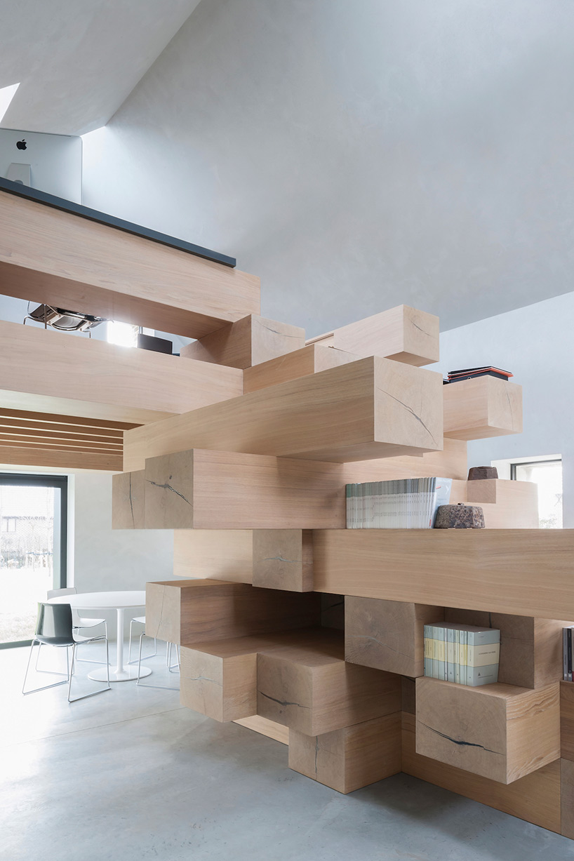stacked timber loft 5