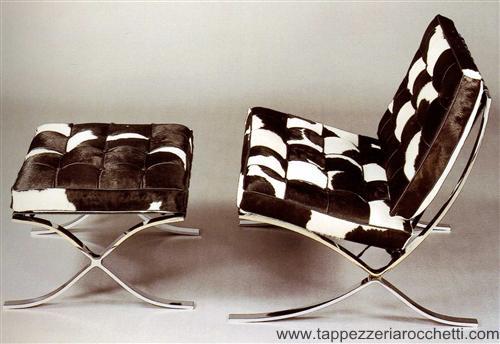 Rocchetti animal print chair and ottoman