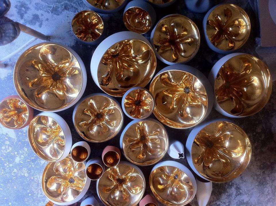 Pleat Box gold interiors
