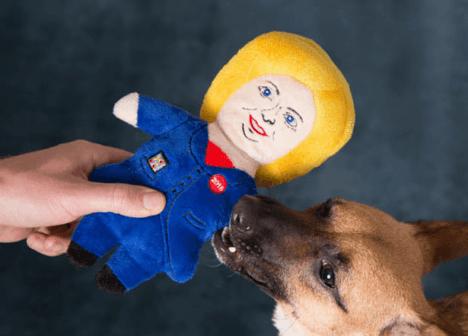 Hillary Clinton dog toy Barks1