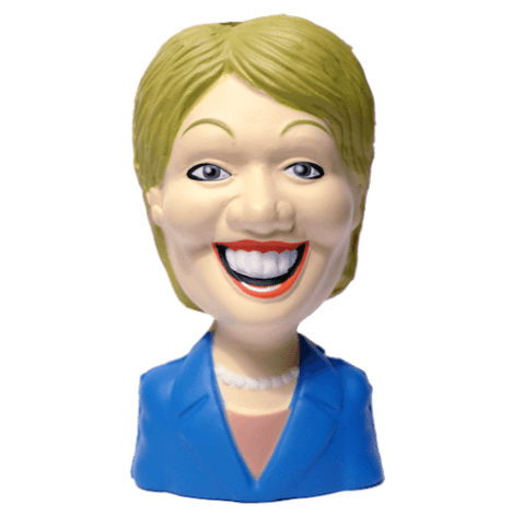 Hillary Clinton dog squeeze toy