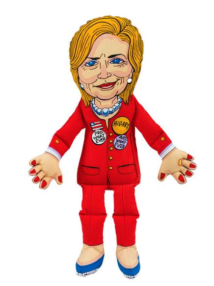 Hillary Clinton dog toy Fuzzu1