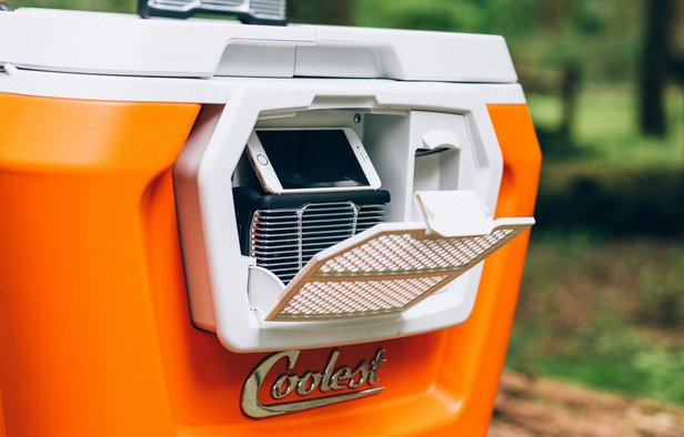 coolest cooler with built-in compatment