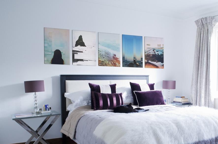 blue pallette displate wall hangings