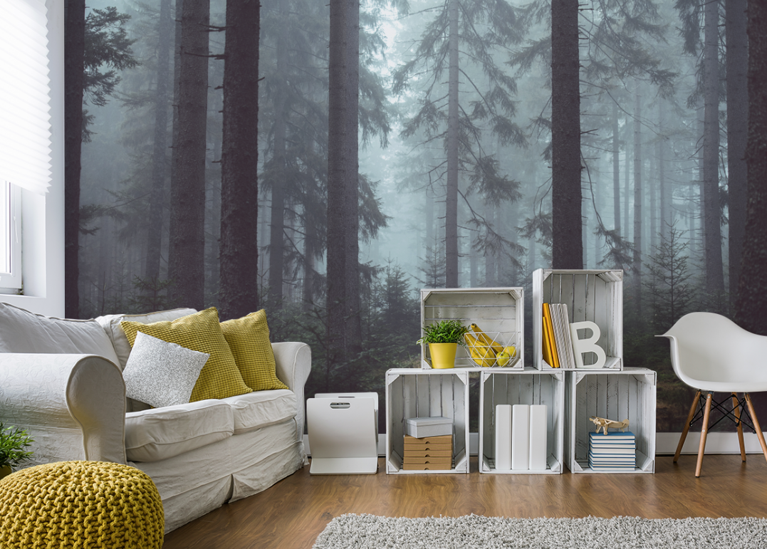 fabulous impact wall art from eazywallz transforms your personal space forest easywallz living room