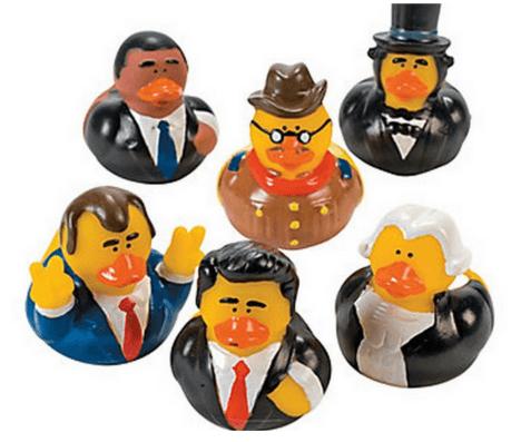 presidential ducks dog toys