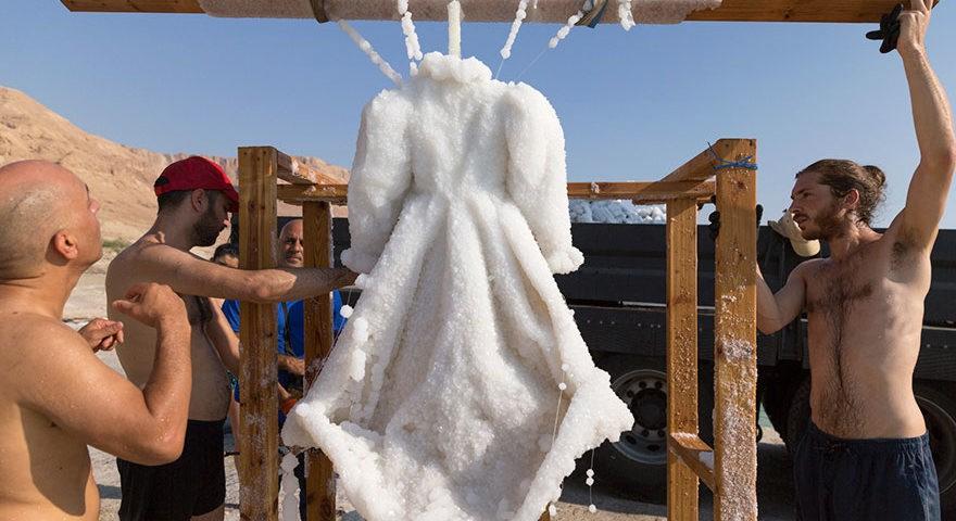 Sigalit Landau's Dead Sea 'Salt Bride'