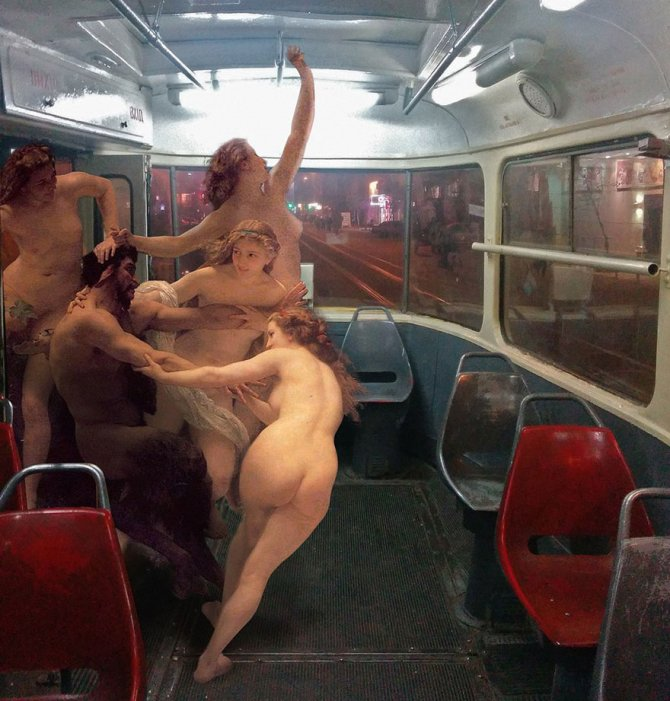 """""""The Daily Life of the Gods,"""" as Gloriously Imagined in Urban Situations by Artist Alexey Kondakov"""