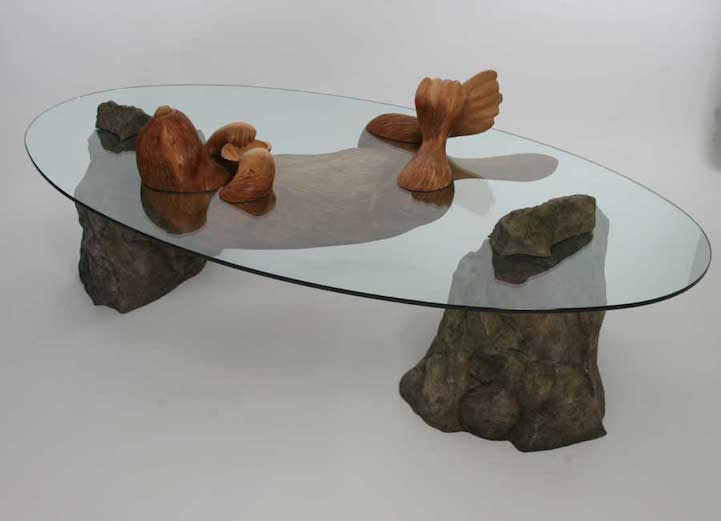 submerged animal tables