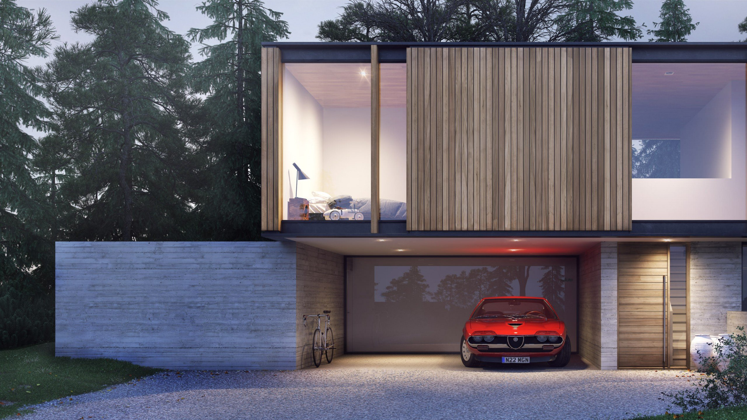 Strom Superhouse with car