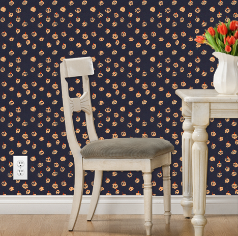 Halloween Spoonflower's Colorful Wallpaper and Fabric