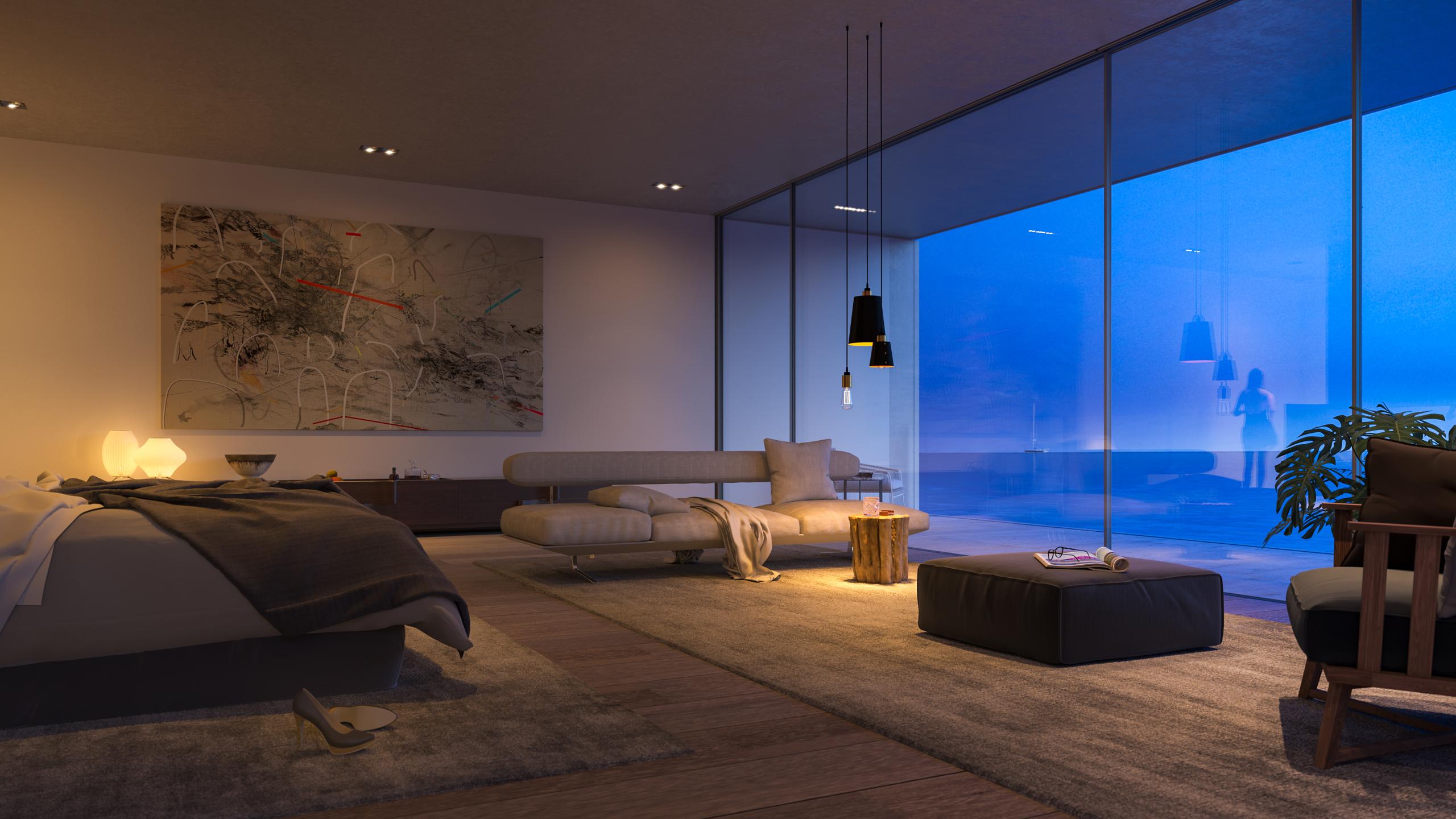 Strom Superhouse bedroom