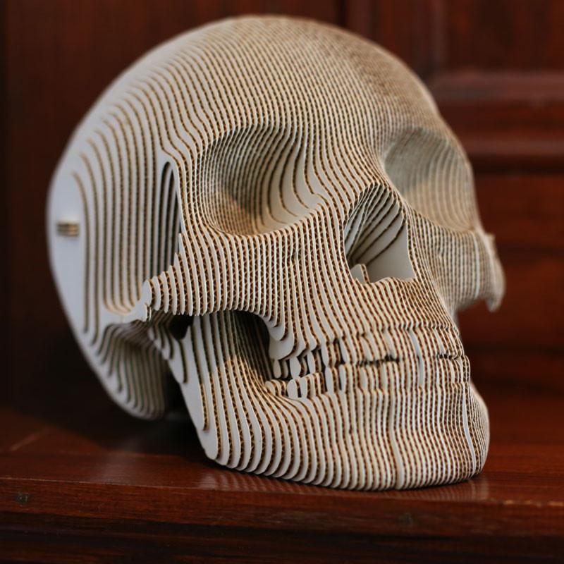 Halloween The Vince Cardboard Skull Model