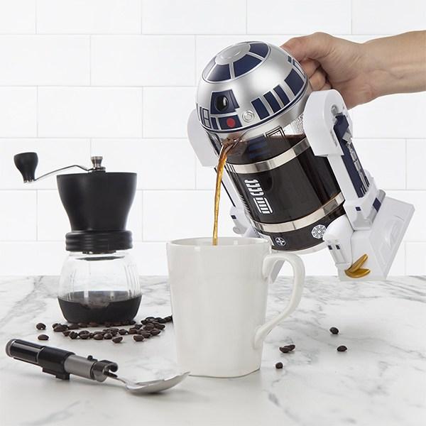 ThinkGeek R2D2 coffee french press