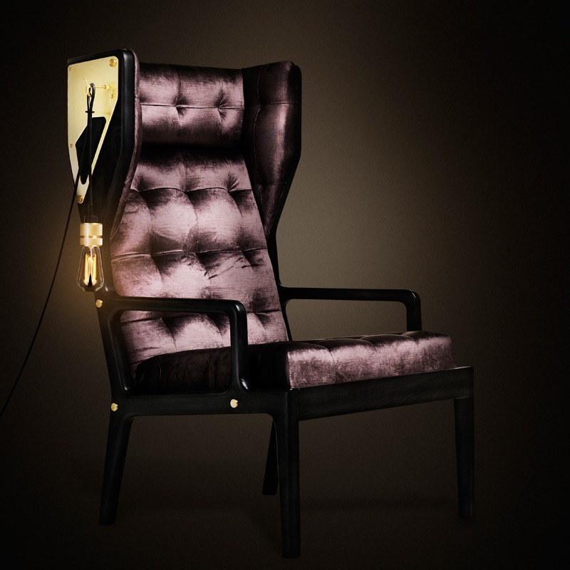 Buster + Punch Wingback-Remix Dark