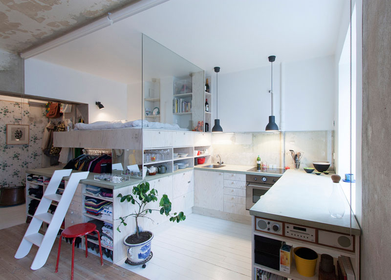 Sleeping In The Kitchen? Unusual Layout For A Tiny Apartment