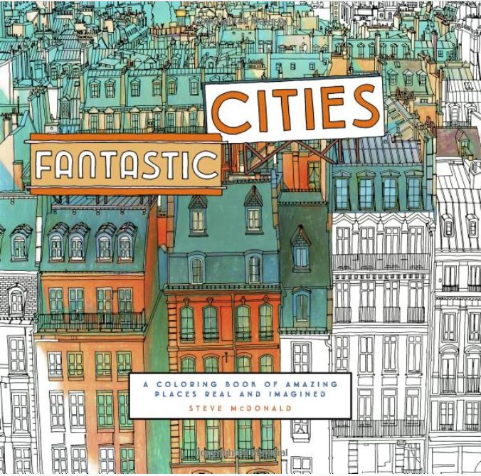 coloring book cities