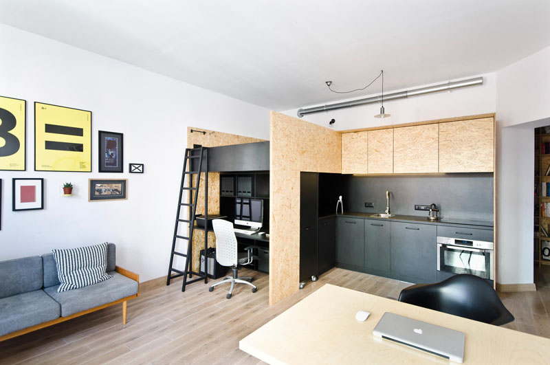 built in brilliance clever live work studio design conceals a