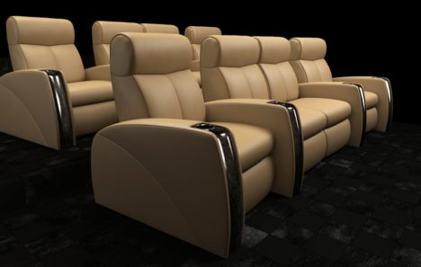white leather movie seating