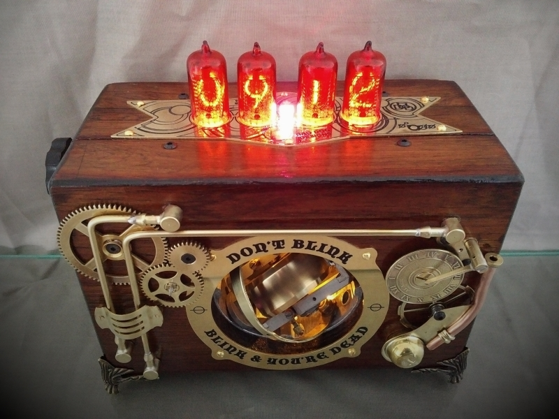Dr. Who Nixie Tube Clock