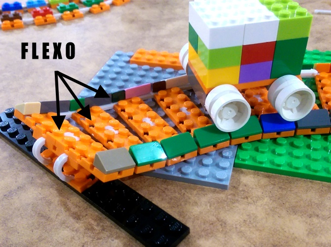 flexo and lego train tracks