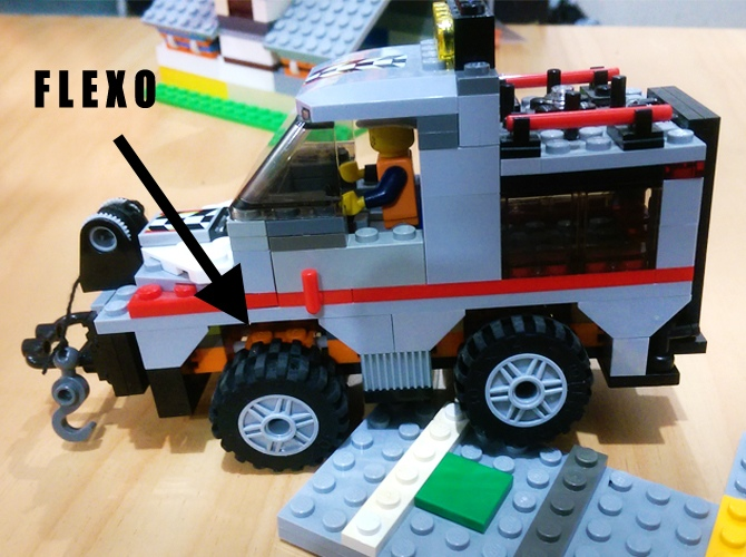 flexo and lego truck