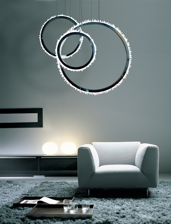 halo chandelier living room
