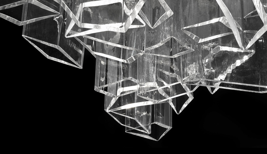 ice chandelier close-up