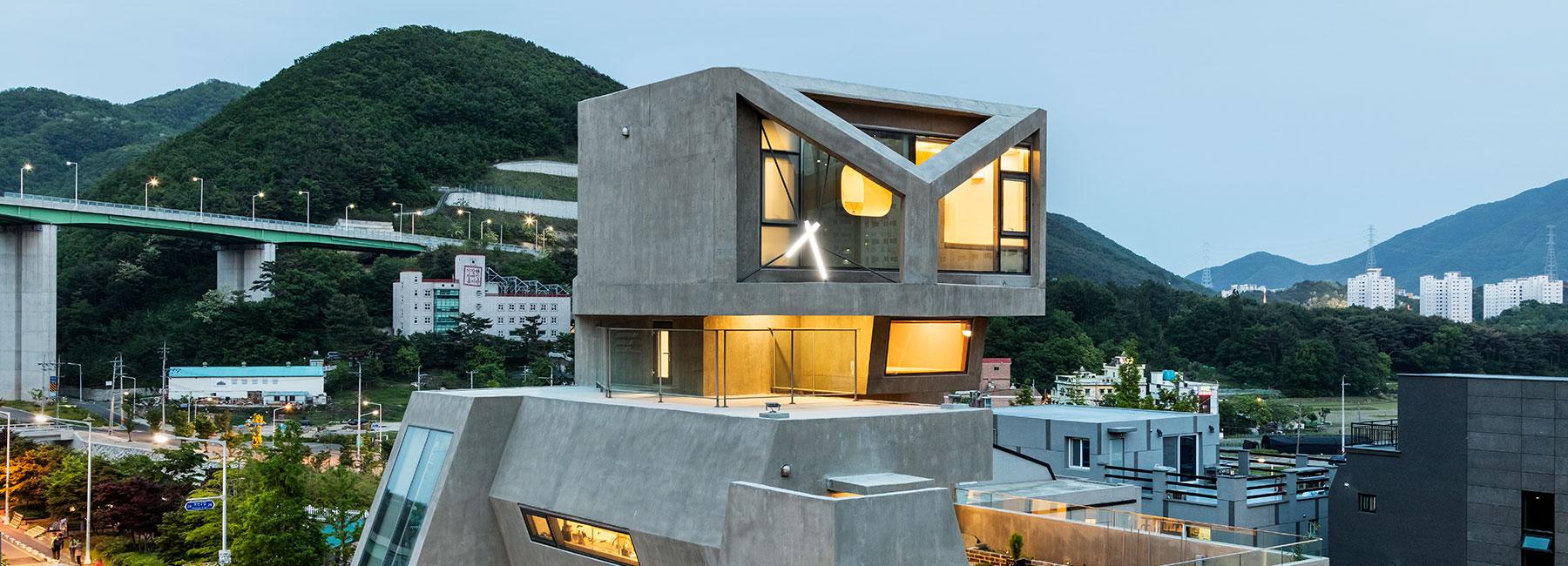 owl head of modern house