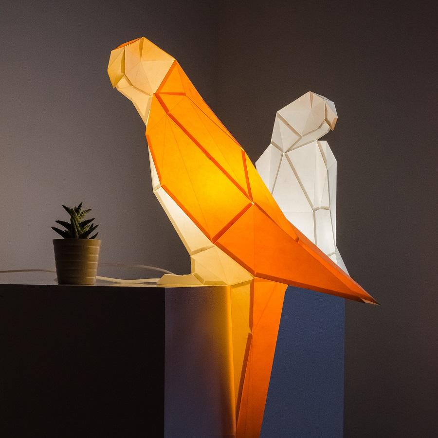 parrot paperlamps