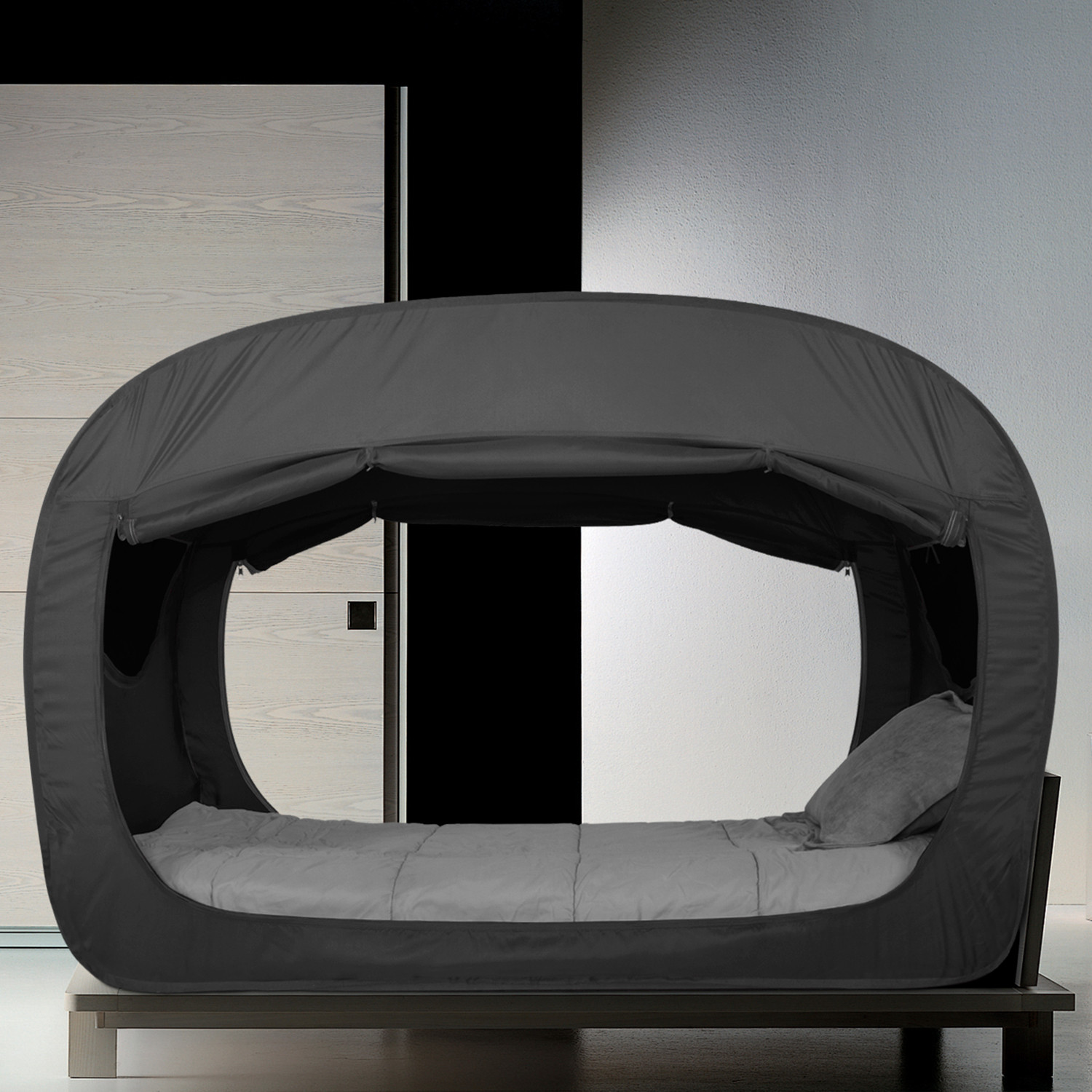 & Privacy Pop: This Bed Tent is a Dark Comforting Fort for All Ages