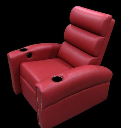 red leather seat