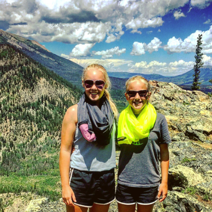 hikers wearing indo-scarfs