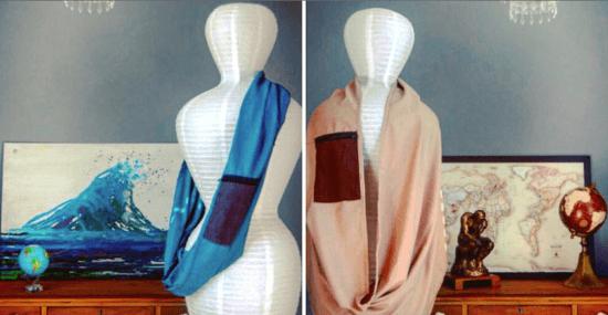scarfs on mannequins