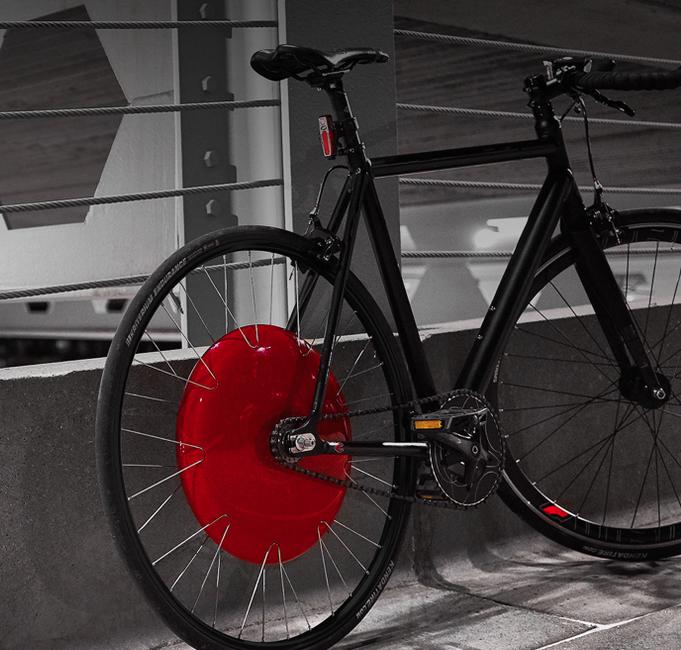 bike with copenhagen wheel