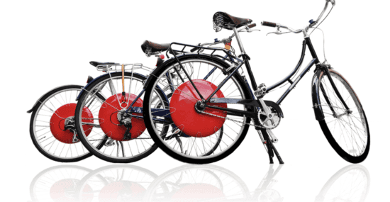 three bikes with copenhagen wheel