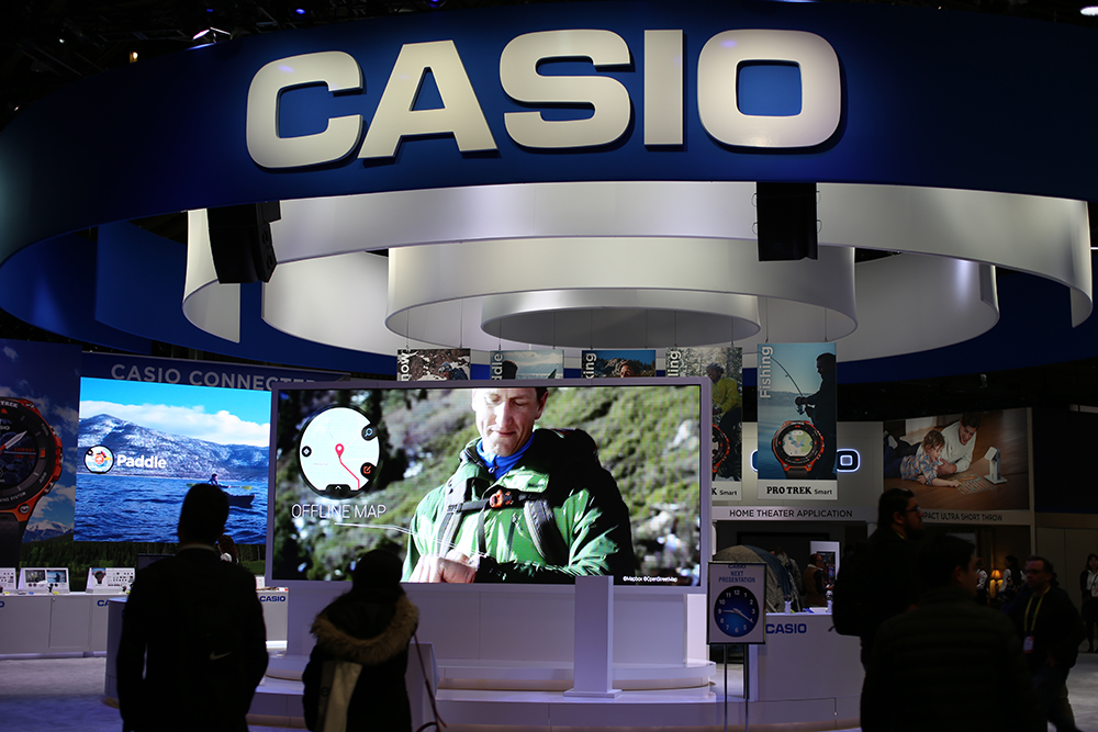 casio booth at CES