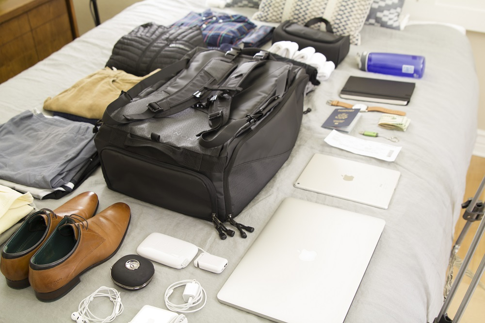 packing a Nomatic travel bag