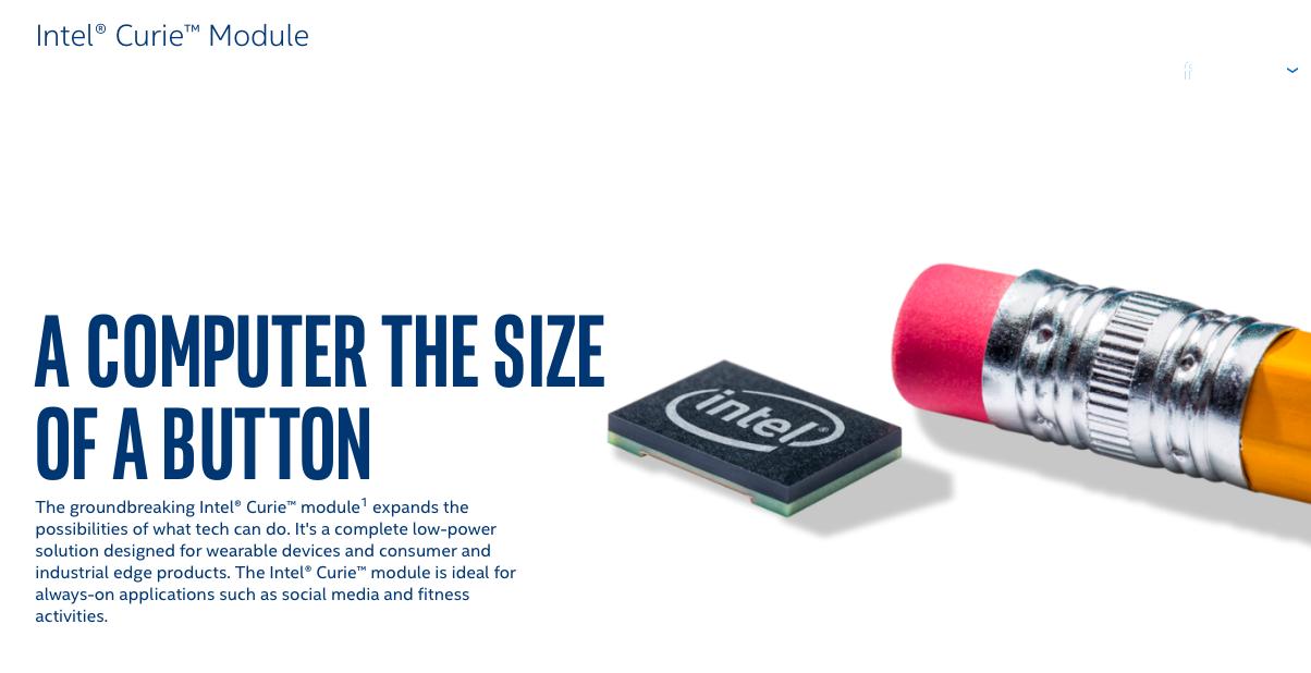 intel curie module size pencil eraser