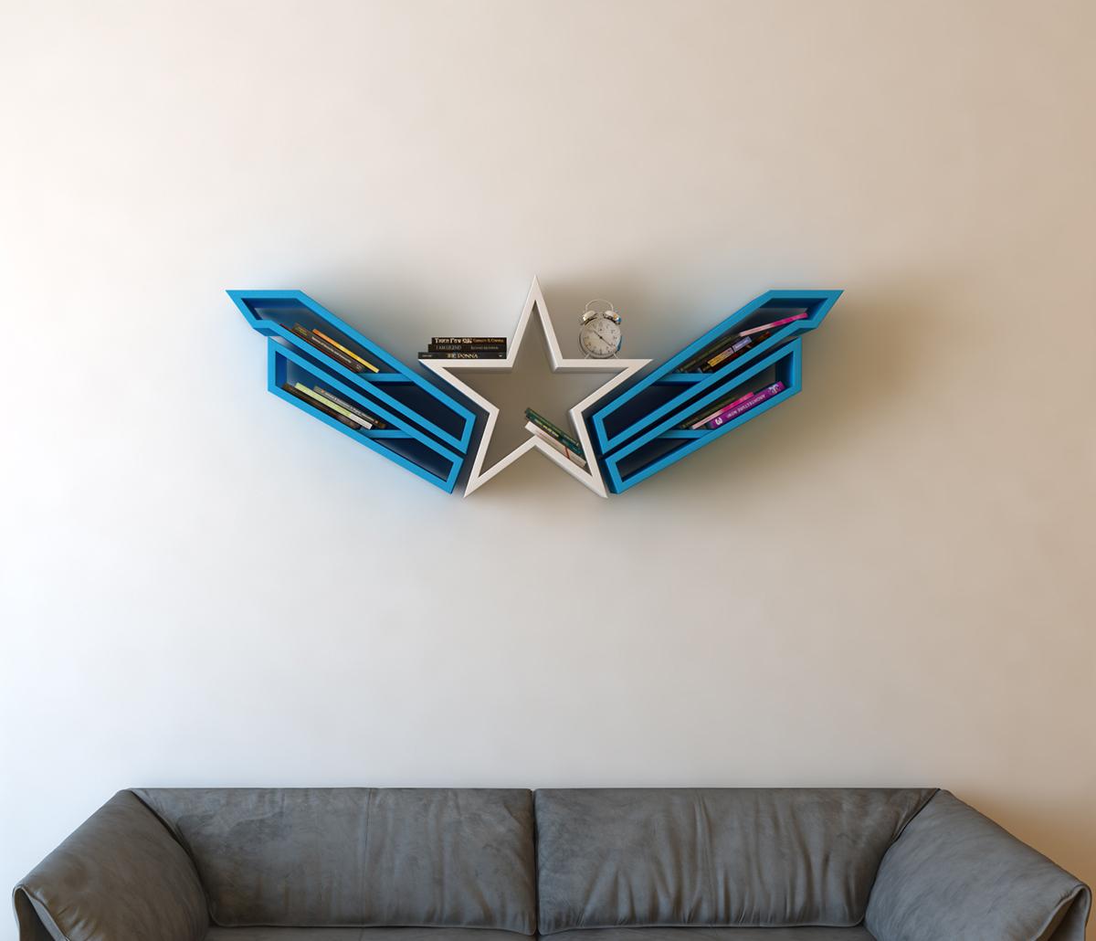 custom bookcase captain america