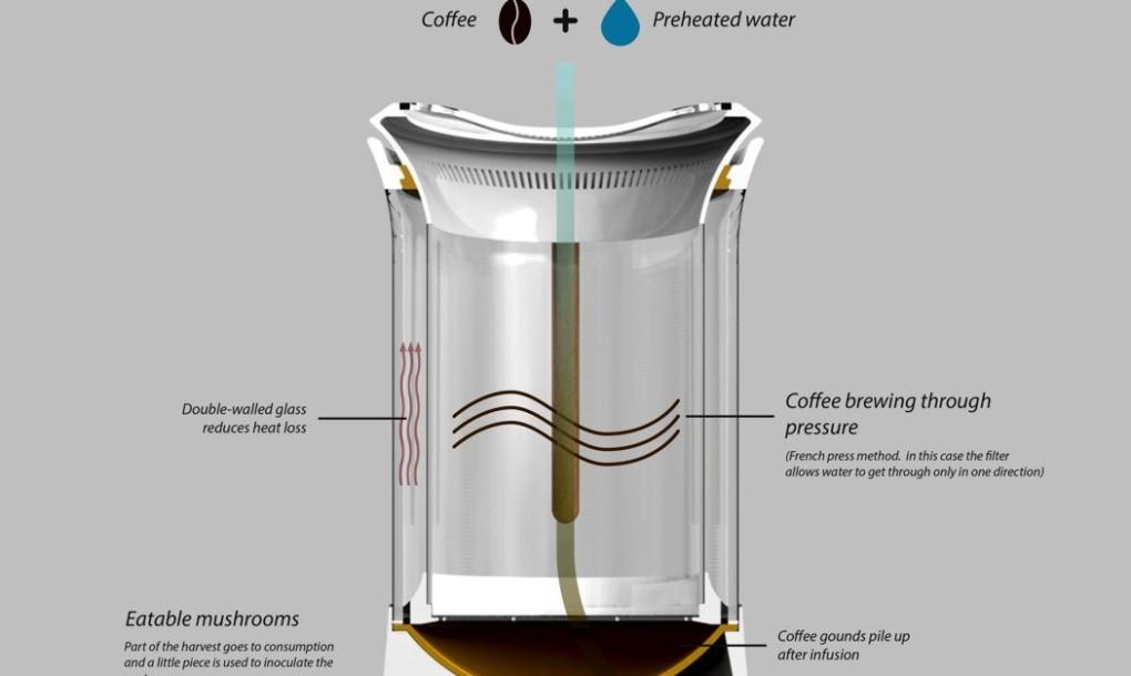 mushrooms coffee maker information