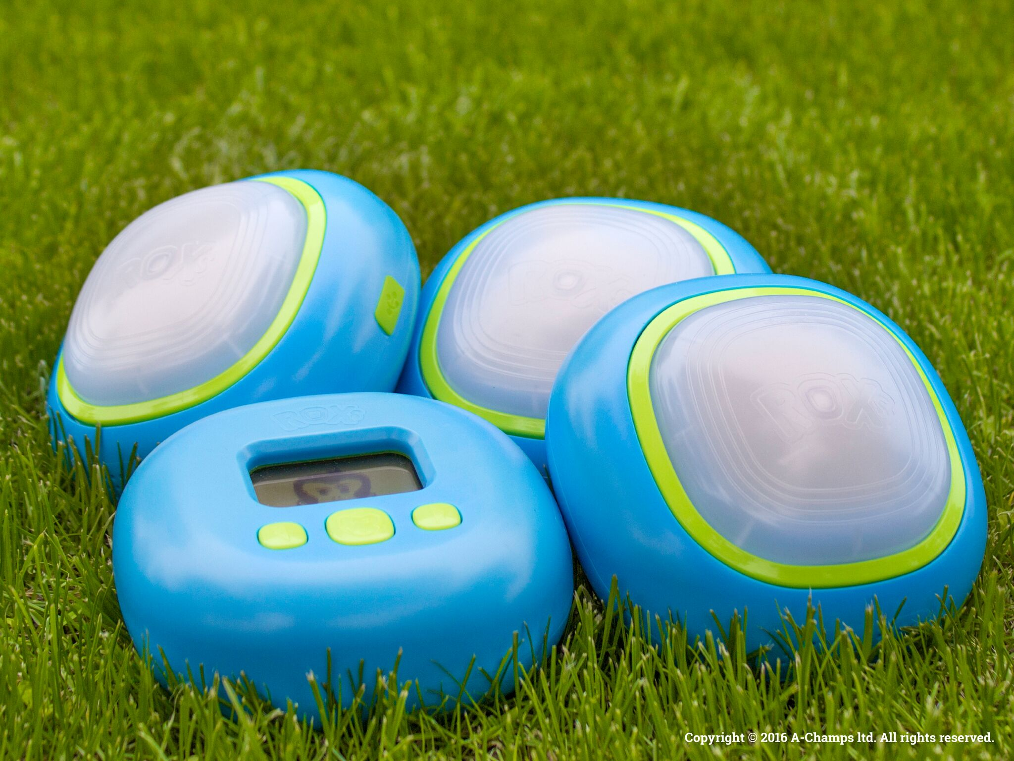 active gaming pods on grass