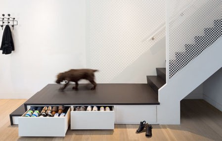 shoe storage drawers staircase