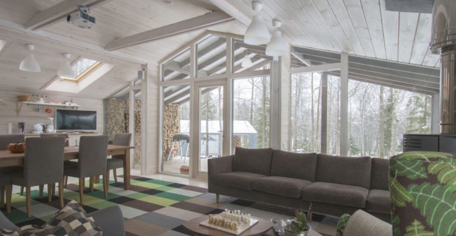 prefab home living room