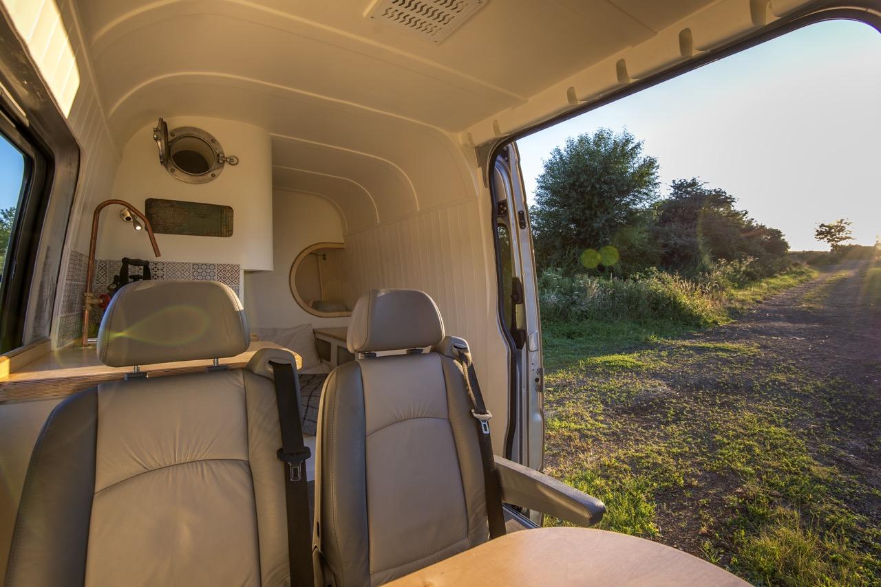 living area converted van