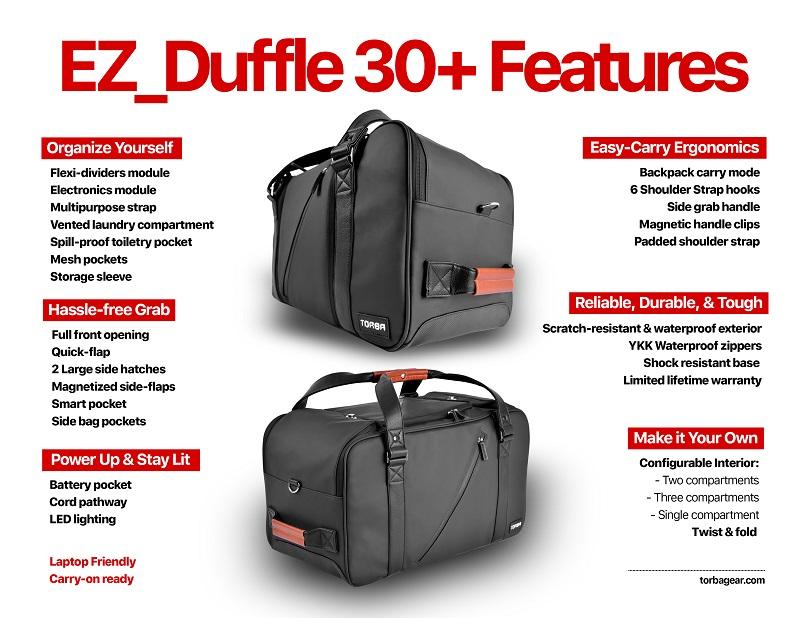 EZ Duffle - Features List